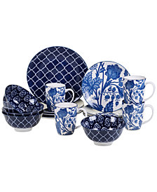 Certified International 16-Pc. Blue Indigo Dinnerware Set