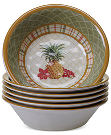 Certified International Floridian Melamine All-Purpose Bowls, Set of 6