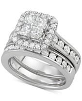 975642a3f84 Diamond Princess Halo Bridal Set (2-7 8 ct. t.w.) in