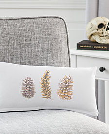 "Cathy's Concepts Pinecones 9"" x 18"" Lumbar Decorative Pillow"