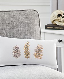 "Cathy's Concepts Pinecones 9"" x 18"" Lumbar Decorative Pillow"