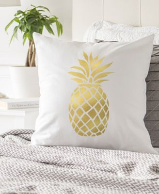 Cathys Concepts Gold Boo Lumbar Pillow White