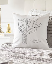 "Cathy's Concepts Family Tree 16"" Square Decorative Pillow"