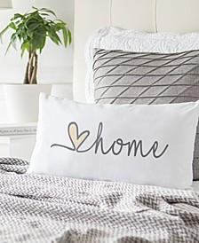 """Love Home 9"""" x 18"""" Lumbar Decorative Pillow"""