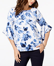 Kasper Ruffled-Sleeve Top