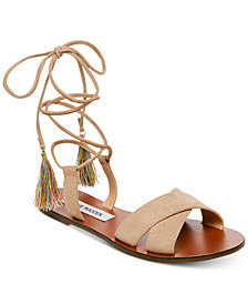 Steve Madden Women's Dylan Lace-Up Flat Sandals