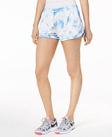 Jessica Simpson TheWarmUp Juniors' Tie-Dye Drawstring Shorts