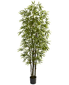 Nearly Natural 7' Artificial Green Bamboo Tree