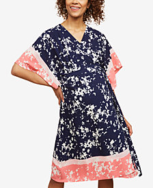 Motherhood Maternity Printed Wrap Dress