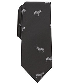Bar III Men's Print Slim Tie, Created for Macy's