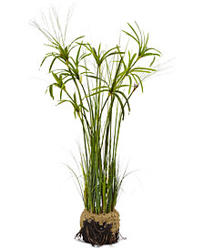 "Nearly Natural 48"" Papyrus Plant & Soil Artificial Arrangement"