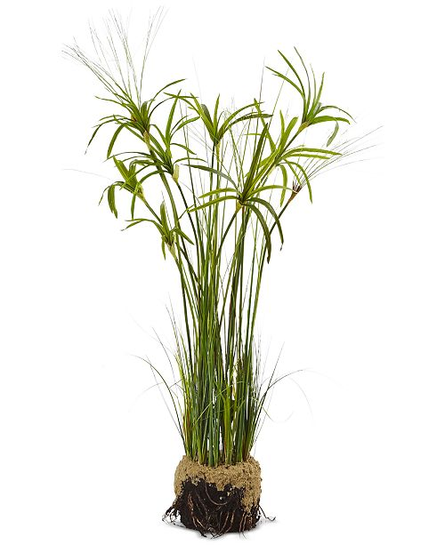 """Nearly Natural 48"""" Papyrus Plant & Soil Artificial Arrangement"""