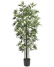 Nearly Natural 6' Artificial Bamboo Silk Tree
