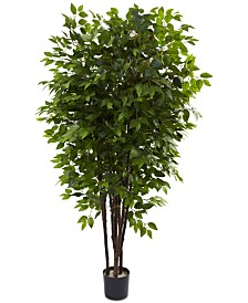 Nearly Natural 6.5' Deluxe Artificial Ficus Tree