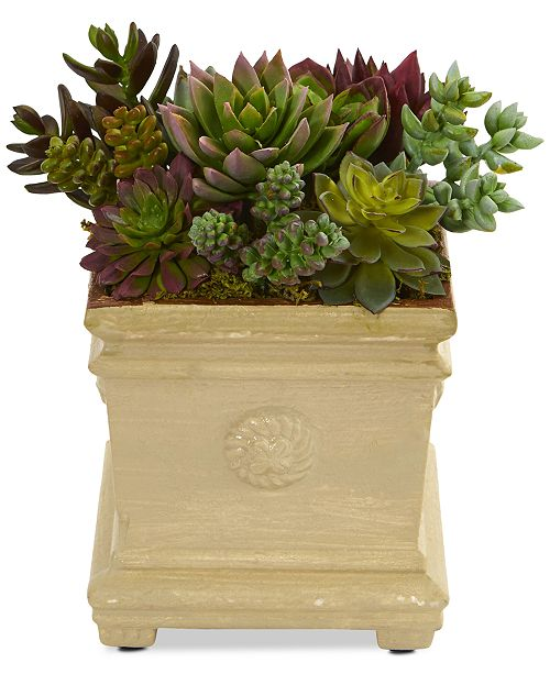 """Nearly Natural 7.5"""" Mixed Succulent Artificial Plant"""