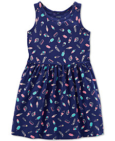 Carter's Little & Big Girls Ice Cream-Print Cotton Tank Dress