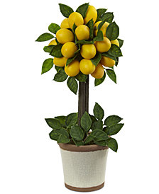 Nearly Natural Lemon Ball Artificial Topiary Arrangement