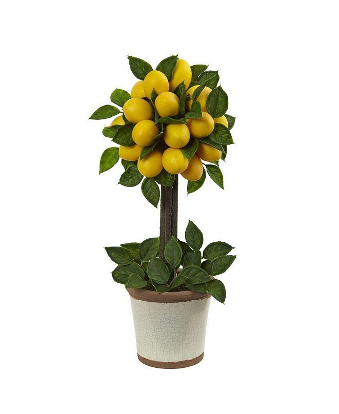 Nearly Natural Lemon Ball Artificial Topiary Arrangement