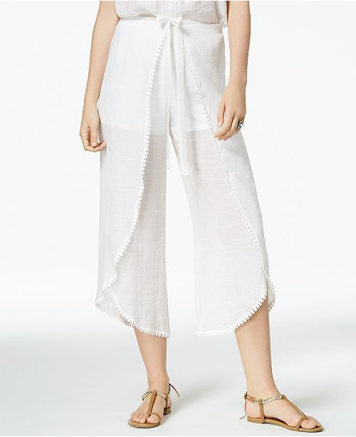 BCX Cropped Wrap White Juniors' Pants OaOwR6q