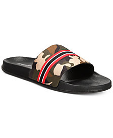 I.N.C. Men's Gemini Camo Shower Slides, Created for Macy's