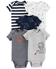 Carter's Baby Boys 5-Pack Printed Cotton Bodysuits