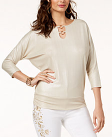 Thalia Sodi Embellished Dolman-Sleeve Top, Created for Macy's