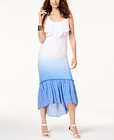 Thalia Sodi Dip-Dyed Maxi Dress, Created for Macy's