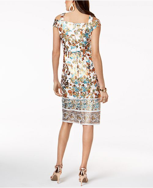 bf4d6137774 ... Thalia Sodi Metallic-Print Sheath Dress
