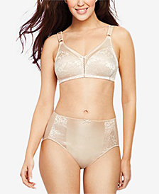 Bali Double Support Lace Bra & High-Cut Brief