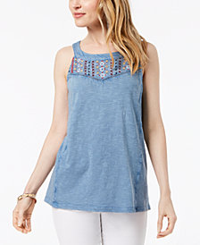Style & Co Cotton Sleeveless Top, Created for Macy's