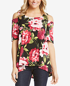 Karen Kane High-Low Cold-Shoulder Top