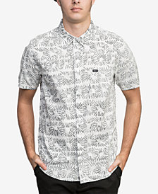RVCA Men's Flower Block Printed Pocket Shirt