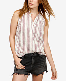 Lucky Brand Sleeveless Striped Shirt