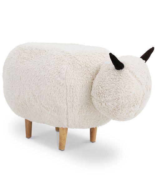 Noble House Madison Velvet Sheep Ottoman
