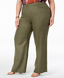 I.N.C. Plus Size Wide-Leg Pants, Created for Macy's