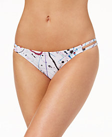 Volcom Juniors' Spray It Printed Strappy Hipster Bikini Bottoms
