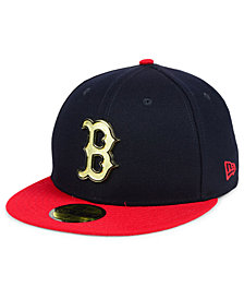 New Era Boston Red Sox Golden Finish 59FIFTY FITTED Cap