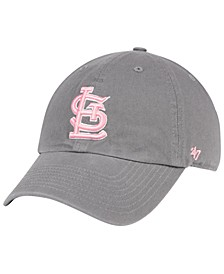 St. Louis Cardinals Dark Gray Pink CLEAN UP Cap