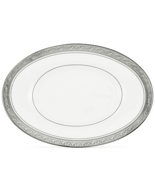 Noritake Crestwood Platinum Butter/Relish Tray