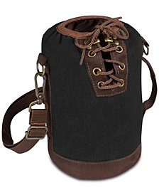 Picnic Time Insulated Black & Brown Growler Tote
