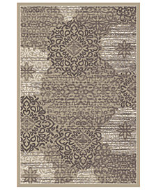 "CLOSEOUT! KM Home Teramo Intrigue 2' 2"" x 7' 7"" Runner"