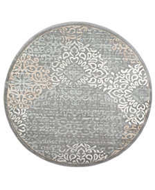 "CLOSEOUT! KM Home Teramo Intrigue 5'3"" Round Area Rug"