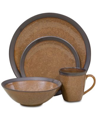 main image  sc 1 st  Macyu0027s & Sango Omega Cocoa Brown 16-Pc. Dinnerware Set - Dinnerware - Dining ...