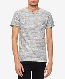 Calvin Klein Jeans Men's Heathered Split-Neck T-Shirt