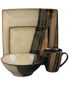 Sango Avanti Black 16-Pc. Dinnerware Set