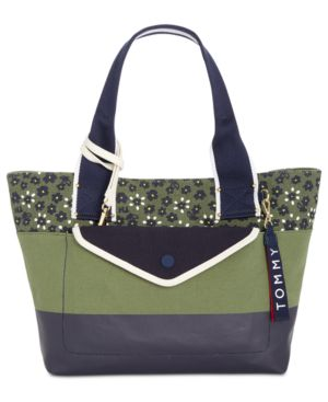 CLASSIC TOMMY CANVAS FLORAL TOTE