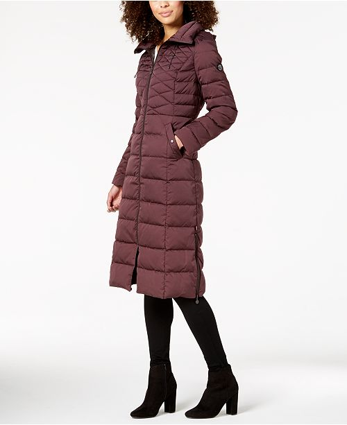 82045c634f0 Bernardo Maxi Puffer Coat   Reviews - Coats - Women - Macy s