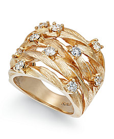 D'Oro by EFFY Diamond Woven Ring (1 ct. t.w.) in 14k Gold