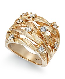 D'Oro by EFFY® Diamond Woven Ring (1 ct. t.w.) in 14k Gold