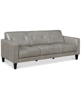 """Montrose 85"""" Leather Sofa, Created for Macy's"""